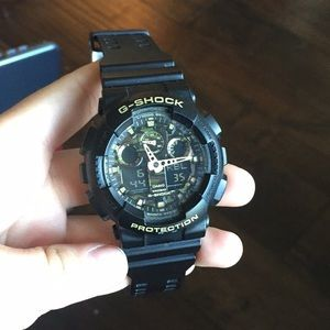 G-shock watch  camo, black, gold, used for sale